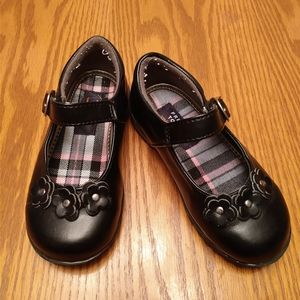 French Toast toddler girls black shoes 9M